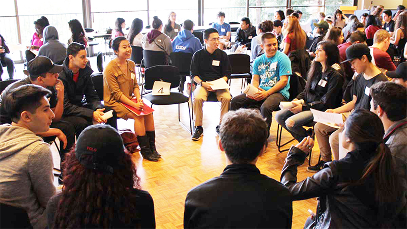 High School Students deliberate on voting rights